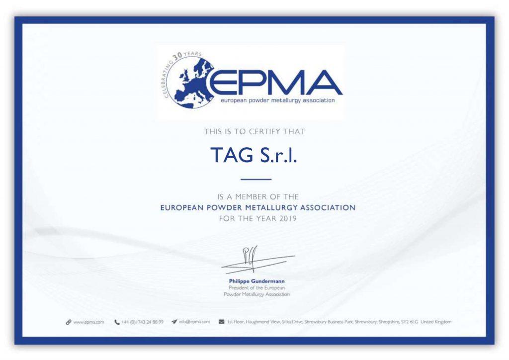 Certificato EPMA